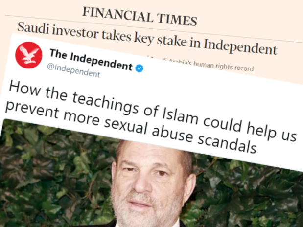UK's The #Independent Uses Hollywood Sex Scandals to Promote Islam