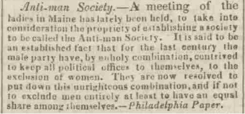 Anti-man society - Northampton Mercury - Saturday 19 June 1830