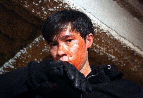 """2013 Movie called """"Chink"""" featuring a  half-Asian actor named Jason Tobin (who looks fully Asian); plays a character who is obsessed with blonde women, hates Asians, and goes on a murder spree against Asianmales"""