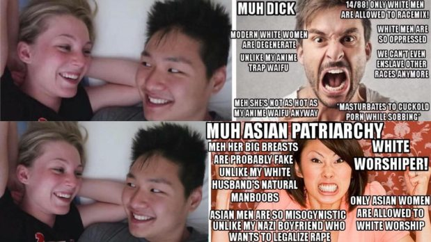 What every person of color, and non-Asian woman, NEEDS to know about Asian white-worship, WMAF couples, Asian white-supremacy, half-Asians, and the looming threat of half-Asian mental problems and white supremacy (The Holtzclaw-Rodger Paradox) – from the son of a Nazi-sympathizer, and a Chinesewoman.
