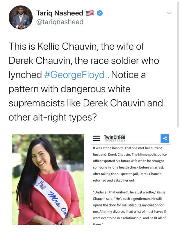 Derek Chauvin, cop who was seen kneeling on George Floyd and eventually killing him in Minnesota, has….. an Asian wife